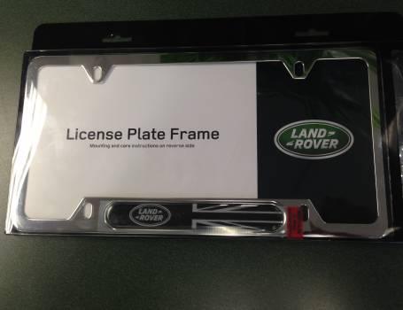 LR2 <br />(2008 & 2015) Plate Frame (Black Jack) (Polished Stainless ...
