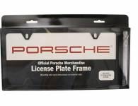 Porsche Vehicle Accessories Black Stainless Steel Slimline License Plate Frame